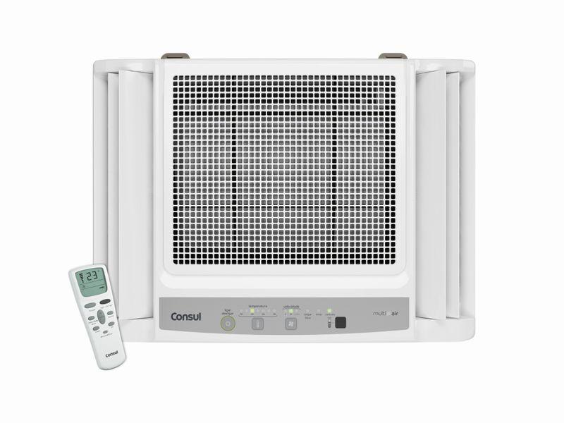 Ar Condicionado 10000 Btus: Eletrônico Consul Frio - Ar Condicionado 10000 Btus CCN10DB - Vista Frontal com controle remoto