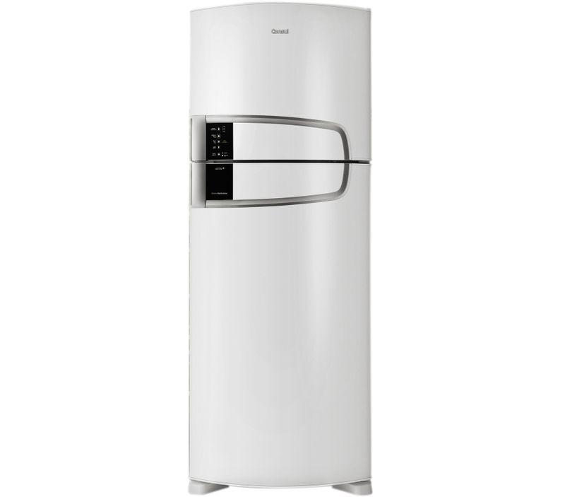 Geladeira Branca - Geladeira Branca Frost Free Duplex Bem Estar 437 Litros com Horta em Casa Branca Consul CRM55AB - Vista Frontal