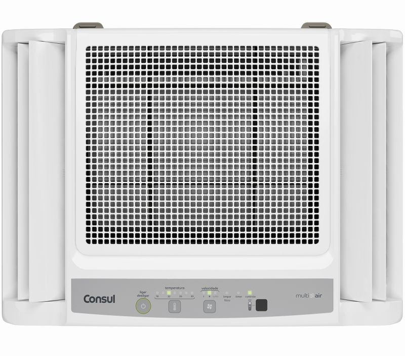 Ar condicionado quente e frio: ar condicionado 10.000 btus com umidificador frio Consul Bem Estar CCO07DB - Imagem frontal