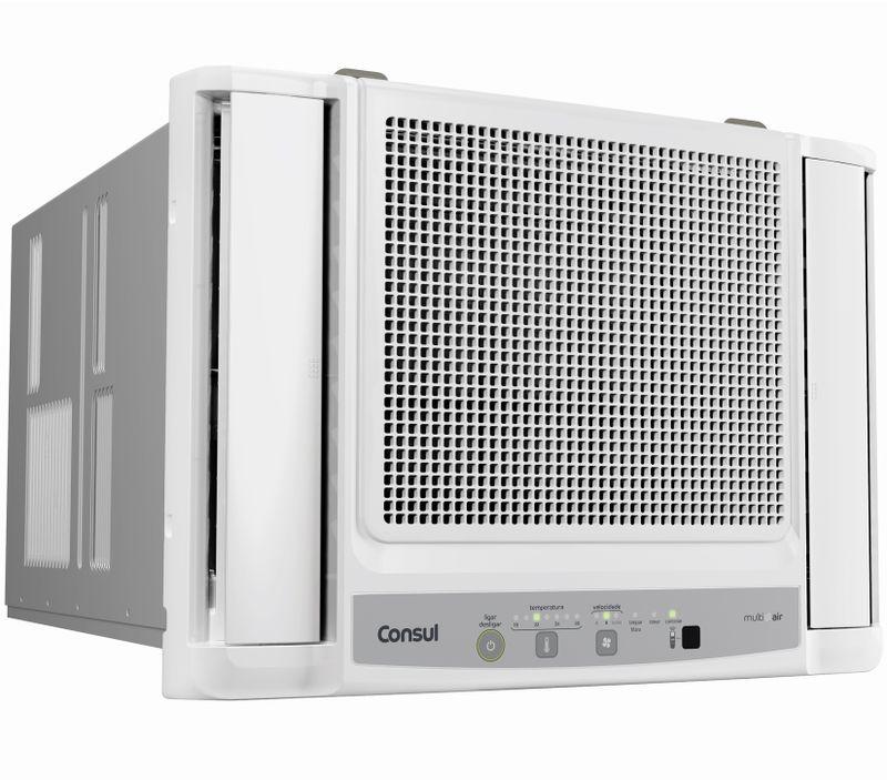 Ar condicionado quente e frio: ar condicionado 10.000 btus com umidificador frio Consul Bem Estar CCO07DB - Imagem em perspectiva
