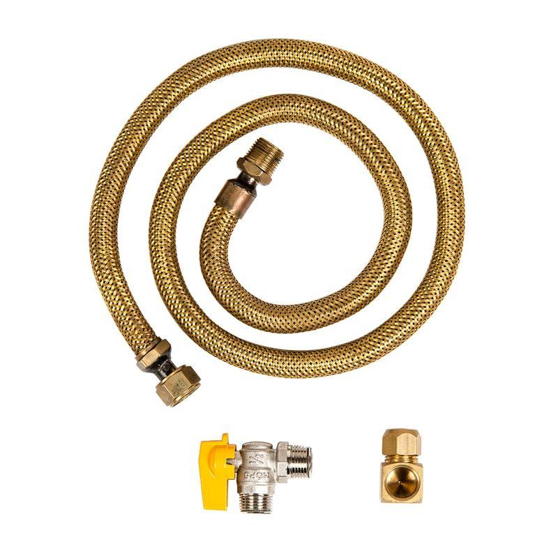 Kit de Instalação Fogão para Gás Encanado c/ Mangueira - W10866791